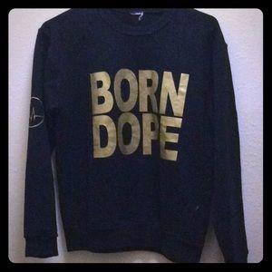 Sweaters - Black & Gold BORN DOPE Sweater